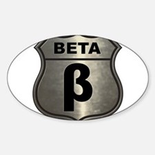Chrome Beta Oval Decal