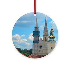 Croatia Skyline  Round Ornament
