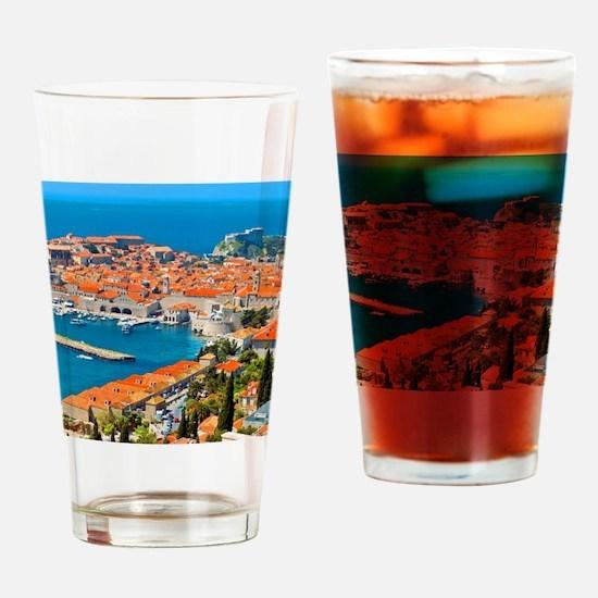 Croatia Harbor  Drinking Glass