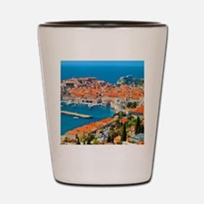 Croatia Harbor  Shot Glass