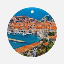 Croatia Harbor  Round Ornament
