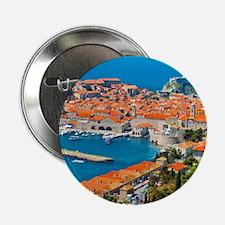 "Croatia Harbor  2.25"" Button"