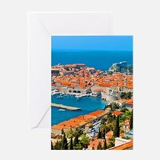 Croatia Harbor  Greeting Card