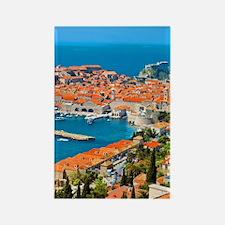 Croatia Harbor  Rectangle Magnet