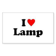 I Love Lamp Decal