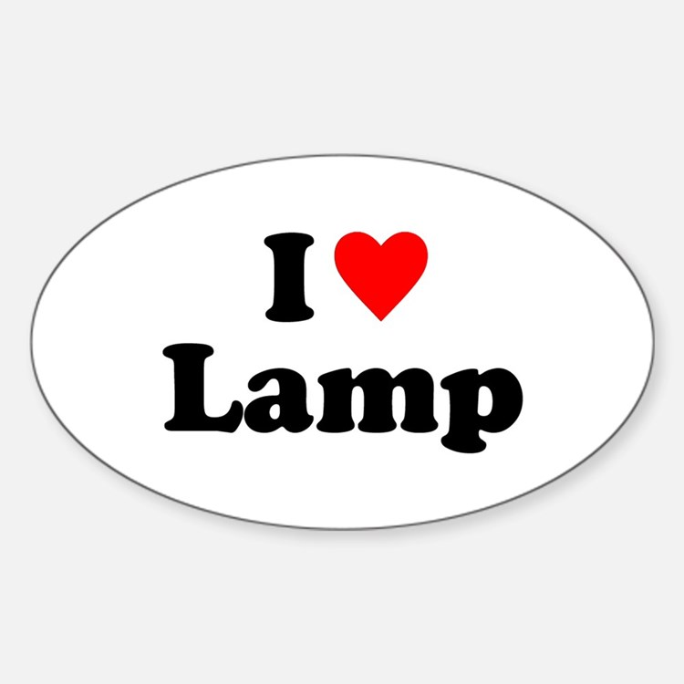 I Love Lamp Decal