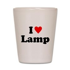 I Love Lamp Shot Glass
