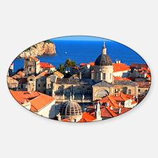 Croatia Downtown Sticker (Oval)