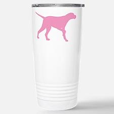 Pink Pointer Dog Stainless Steel Travel Mug