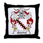 Quental Family Crest Throw Pillow