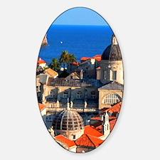 Croatia Downtown  Decal