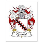 Quental Family Crest Small Poster