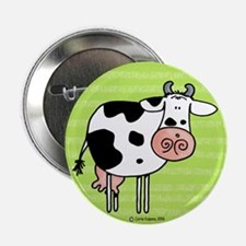 Cow in green Button