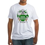 Queiroga Family Crest  Fitted T-Shirt