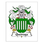 Queiroga Family Crest  Small Poster