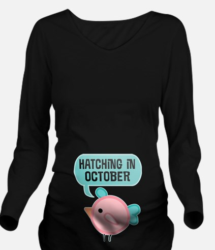 Hatching In October Long Sleeve Maternity T-Shirt