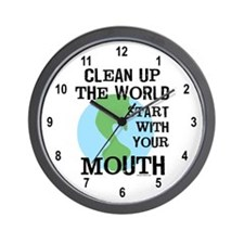 Clean Up the World Wall Clock