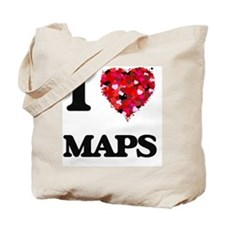 I Love Maps Tote Bag