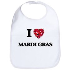 I Love Mardi Gras Bib
