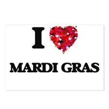 I Love Mardi Gras Postcards (Package of 8)