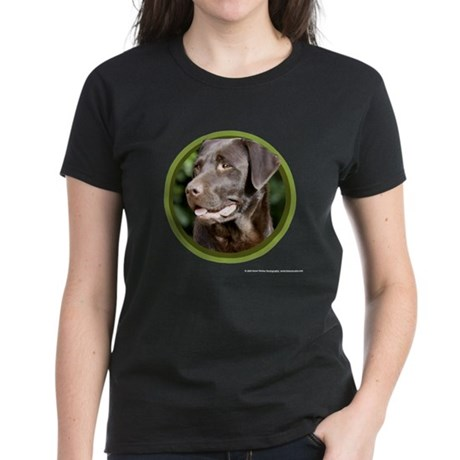Chocolate Lab Art Women's Dark T-Shirt