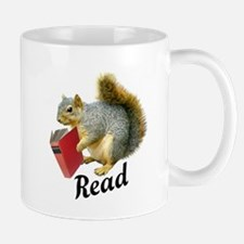 Squirrel Book Read Mugs