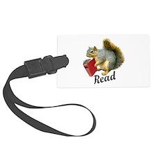Squirrel Book Read Luggage Tag