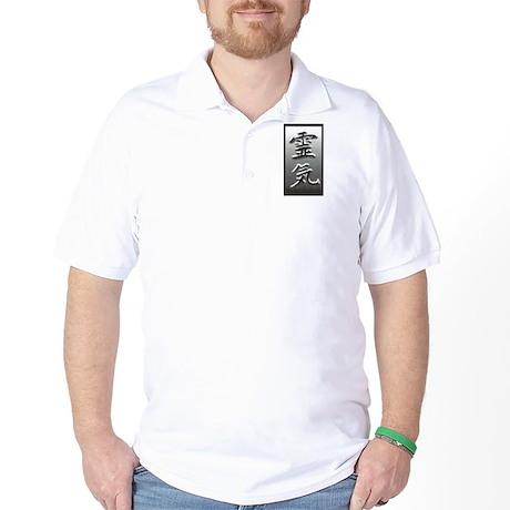 Black & Gray Reiki Kanji Golf Shirt