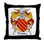 Privado Family Crest Throw Pillow