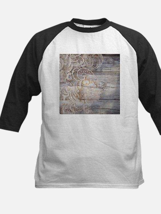 barn wood lace western country Baseball Jersey