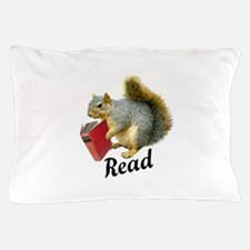 Squirrel Book Read Pillow Case