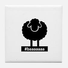 #baaaaaa Black Sheep Tile Coaster