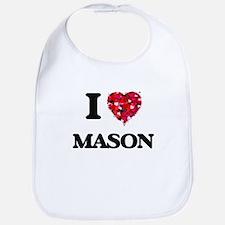 I Love Mason Bib