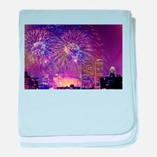 Boston, MA July 4th Fireworks baby blanket