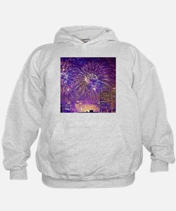 Boston, MA July 4th Fireworks Hoodie