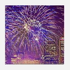 Boston, MA July 4th Fireworks Tile Coaster