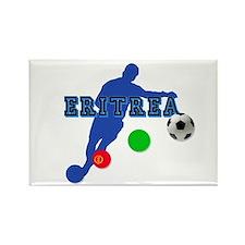 Eritrea soccer footballer Rectangle Magnet (10 pac