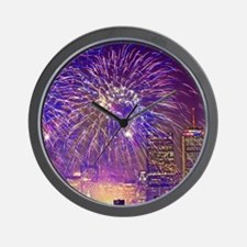 Boston, MA July 4th Fireworks Wall Clock