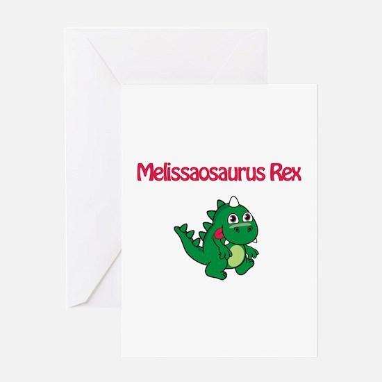 Melissaosaurus Rex Greeting Card