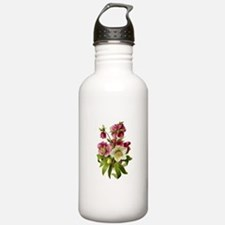 Purple and White Helle Water Bottle