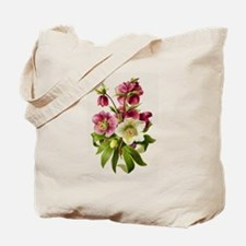 Purple and White Hellebores Tote Bag
