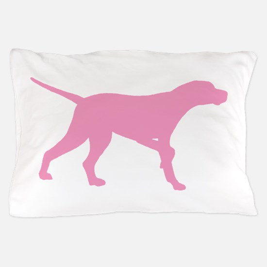 Pink Pointer Dog Pillow Case