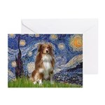 Starry-Aussie Shep #4 Greeting Cards (Pk of 20)