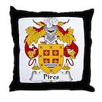 Pires Family Crest Throw Pillow