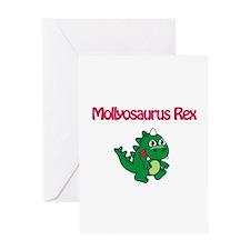Mollyosaurus Rex Greeting Card