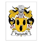 Pignatelli Family Crest Small Poster