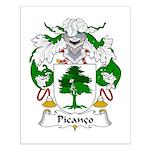 Picanco Family Crest Small Poster