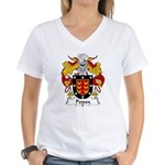 Pessoa Family Crest Women's V-Neck T-Shirt