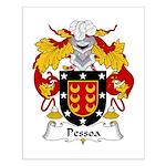 Pessoa Family Crest Small Poster