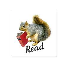 Squirrel Book Read Sticker